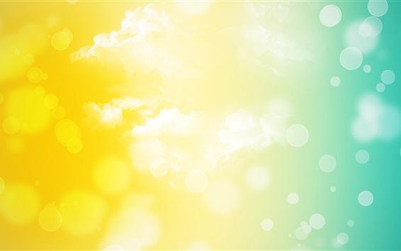 Fond d'écran Circles, nuages, lumière, éblouissement, résumé