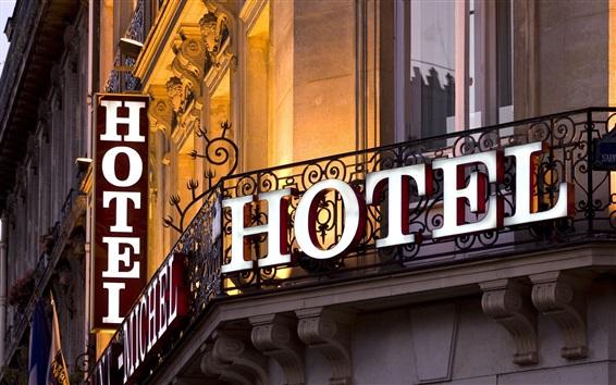 Papéis de Parede Cidade, Hotel, edifício