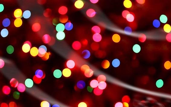 Fondo De Pantalla Abstracto Flores Y Circulos: Luces De Colores, Círculos, La Noche Fondos De Pantalla