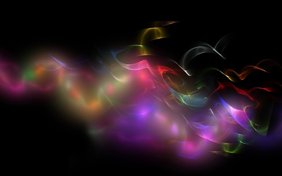 Wallpaper Colorful smoke, abstract picture