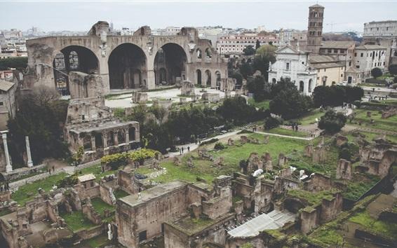 Wallpaper Colosseum Rome Ruins Ancient City Travel Place
