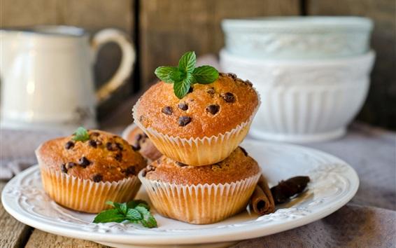 Wallpaper Cupcakes, delicious breakfast