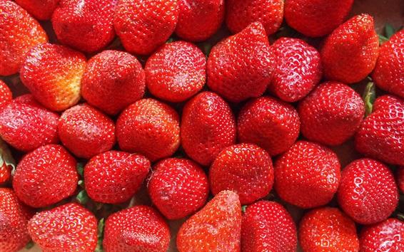 Wallpaper Delicious strawberry, fresh fruit