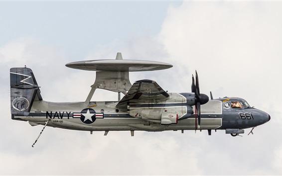 Wallpaper E-2C Hawkeye radar plane