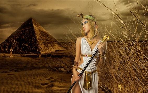 Wallpaper Egypt girl, desert