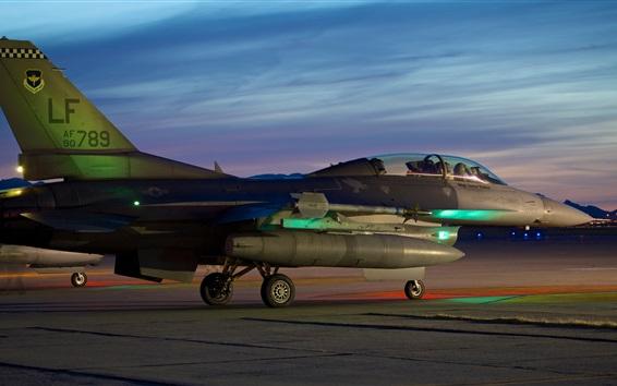 배경 화면 파이팅 팔콘, F-16C 전투기 이륙