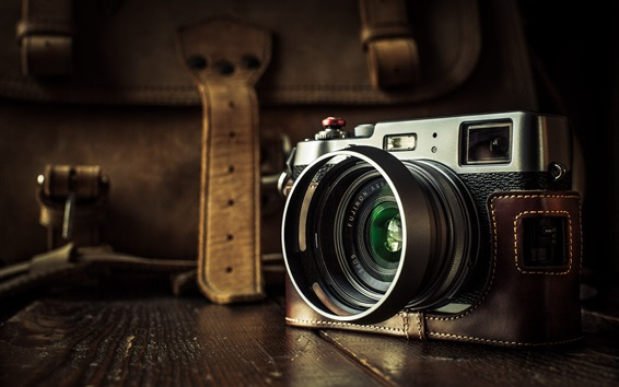 배경 화면 Fuji X100T 디지털 카메라