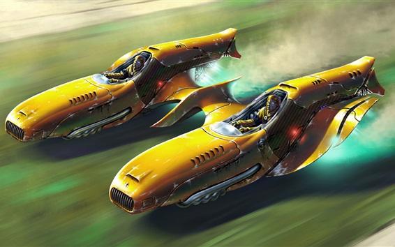 Fondos de pantalla Velocidad futura del automóvil, cuadro de arte