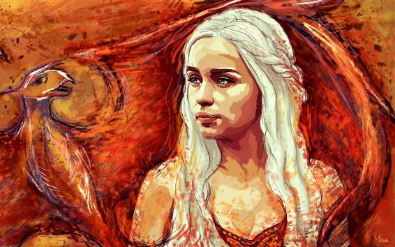 Papéis de Parede Game of Thrones, Emilia Clarke, foto de arte