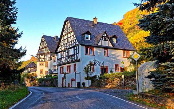Fond d'écran Allemagne, maisons, villa, arbres, soleil