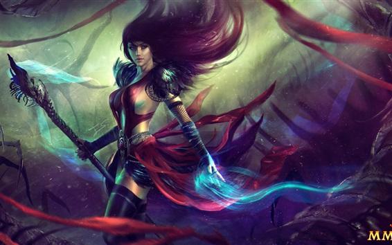 Wallpaper Guild Wars 2, beautiful girl, magic