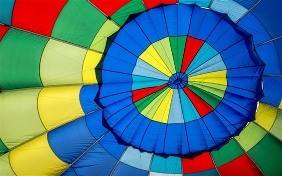 Wallpaper Hot air balloon colorful colors