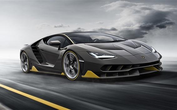 Fondos de pantalla Lamborghini LP770-4 velocidad de supercar negro