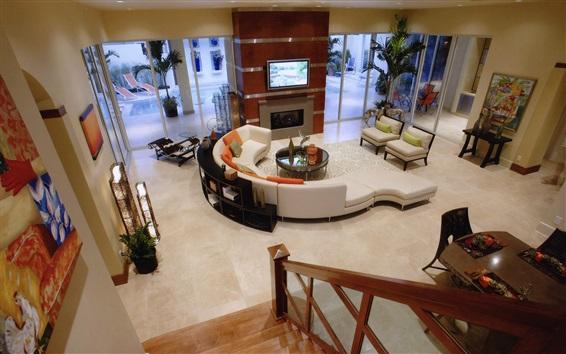 Wallpaper Living room, villa, interior