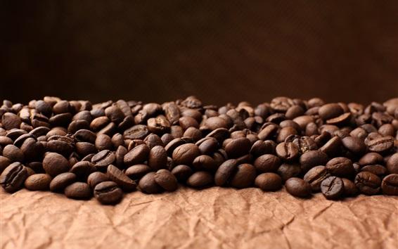 Обои Много кофейных зерен, зерновых