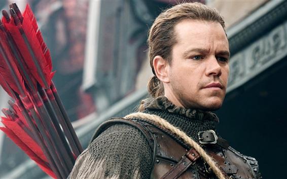 Fondos de pantalla Matt Damon, guerrero, La Gran Muralla