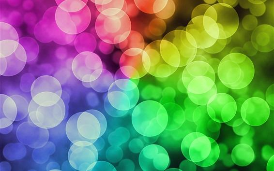 Обои Многоцветные круги, блики, абстракция