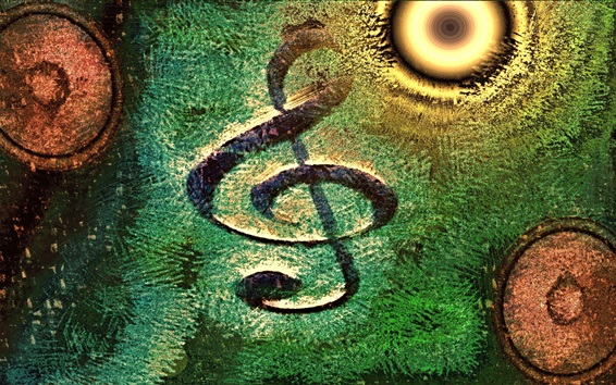 Wallpaper Musical note, abstract