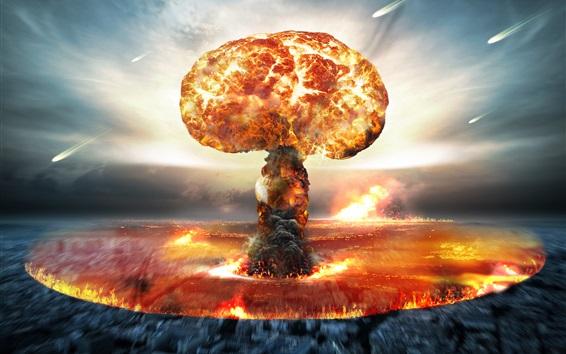 Wallpaper Nuclear bomb explosion, mushroom cloud