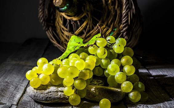 Papéis de Parede Um monte de uvas verdes, frutas