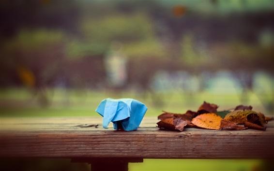 Fond d'écran L'éléphant d'Origami, l'art du papier, les feuilles