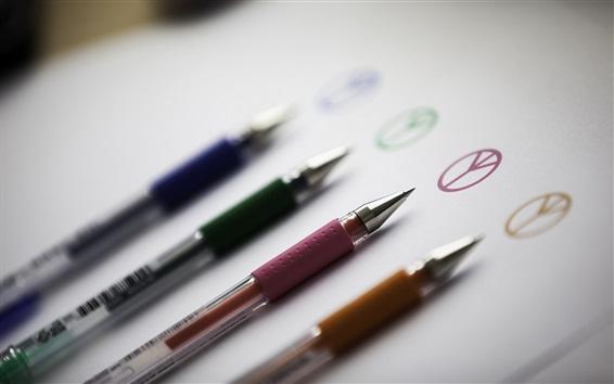 Fond d'écran Crayons, différentes couleurs