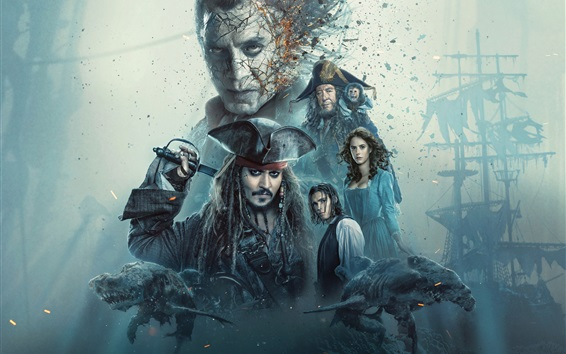 Wallpaper Pirates of the Caribbean 2017