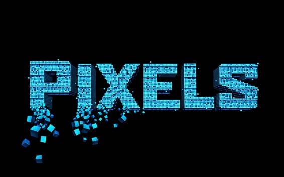 Wallpaper Pixels, creative picture, black background