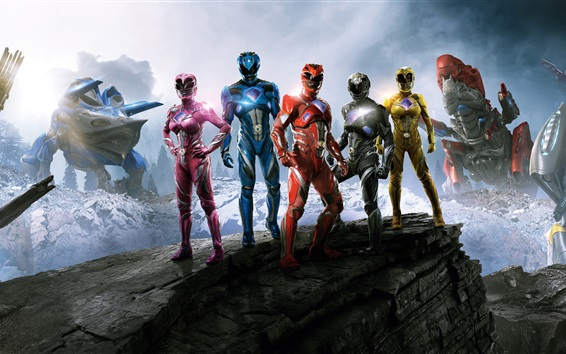 Wallpaper Power Rangers 2017 movie HD