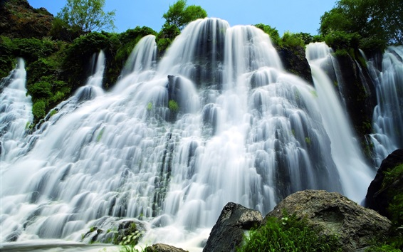 Wallpaper Shaki Waterfall, Armenia