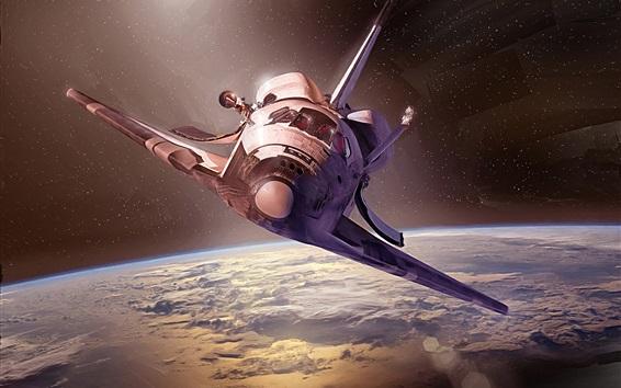 Fond d'écran Vaisseau spatial, terre, découverte, espace