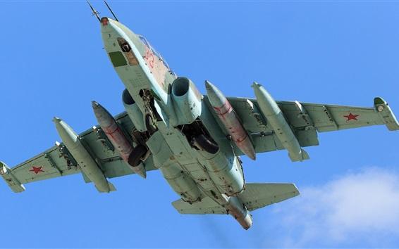 Fond d'écran Combattant d'attaque Su-25, vue châssis