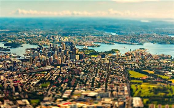 Fond d'écran Sydney, Australie, vue sur la ville