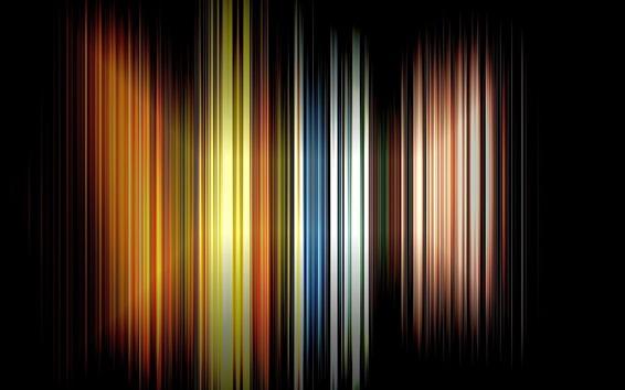 Wallpaper Vertical rainbow lines, black background