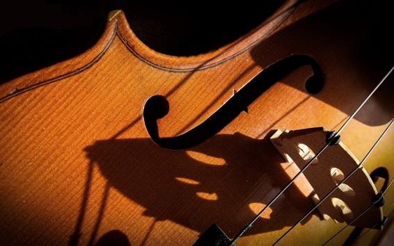 Fond d'écran Gros plan en violon, thème musical