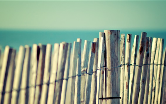 Wallpaper Wooden fence close-up