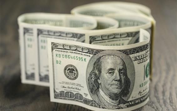Fondos de pantalla 100 dólares, papel moneda