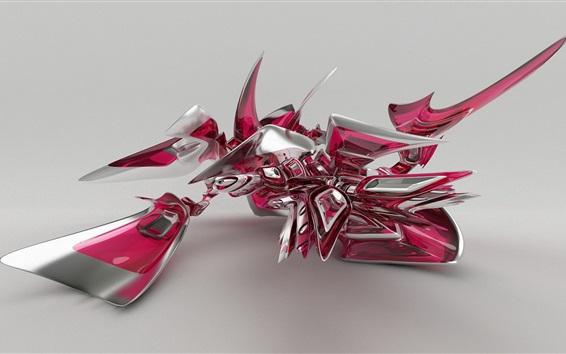 Wallpaper Abstract bird, 3D design