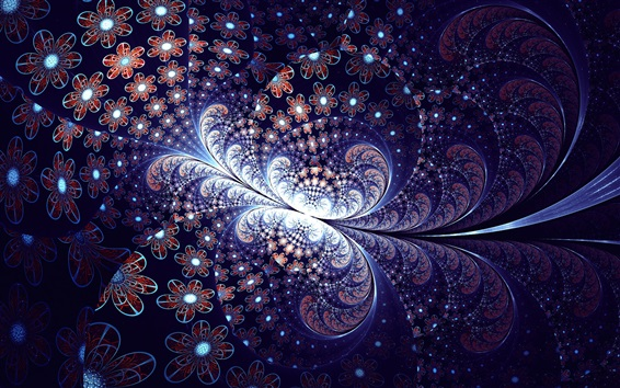 Wallpaper Abstract flower, butterfly, light, shine