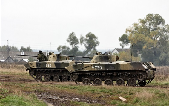 Wallpaper BMD-2 fighting vehicles exercises, Russia