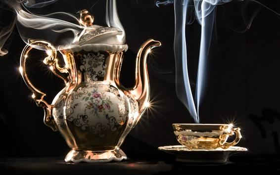 Wallpaper Beautiful kettle, cup, steam