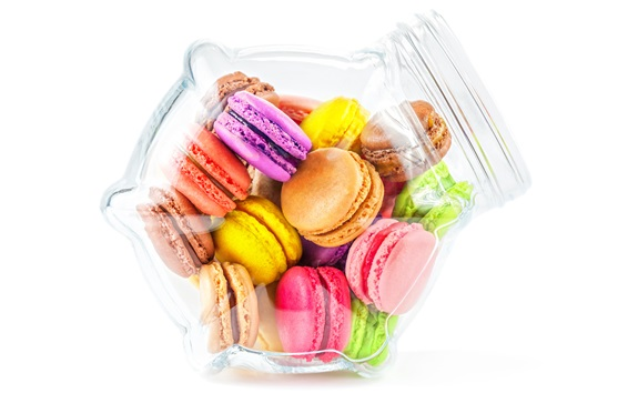 Wallpaper Colorful cookies, macaron, almond, dessert