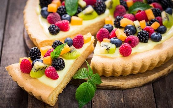 Обои Вкусный фруктовый пирог