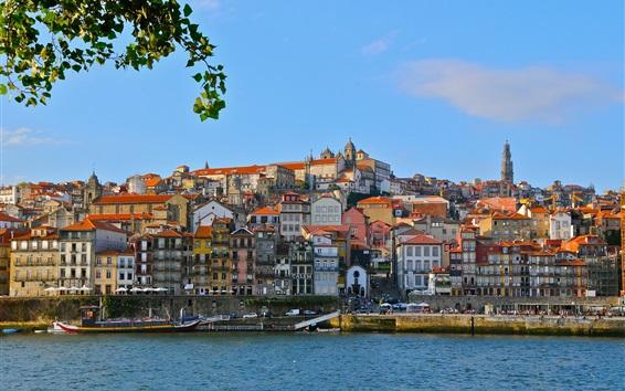 Fond d'écran Douro, Portugal, port, maisons