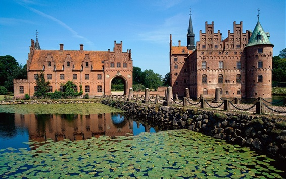 Fond d'écran Château d'Egeskov, Danemark