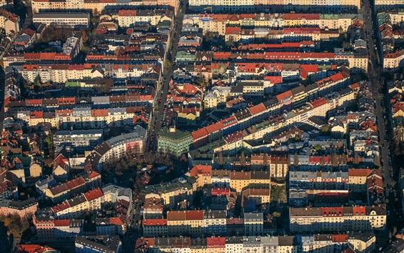 Fond d'écran Allemagne, Munich, Bayern, ville, vue de dessus
