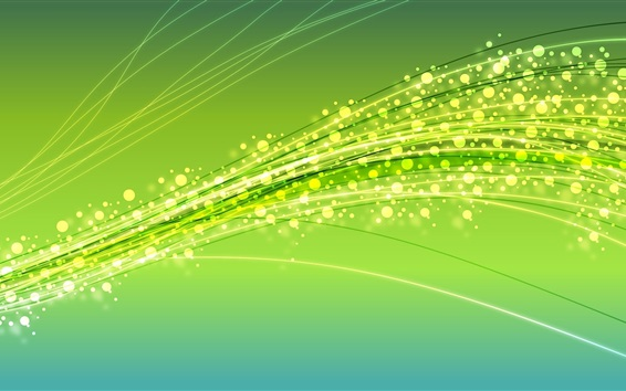 Wallpaper Glitter circles, lines, abstract, green background
