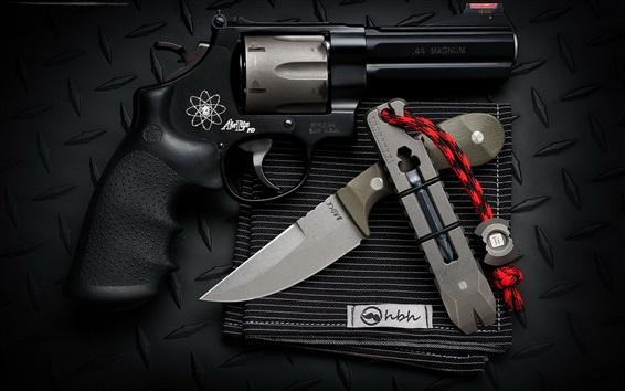Wallpaper Knife and gun, weapon