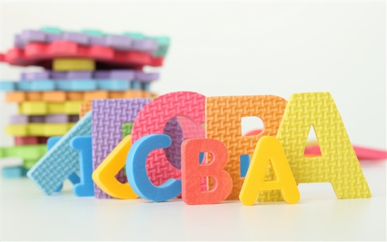 Обои Письма игрушки, белый фон