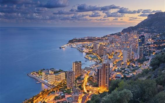 Wallpaper Ligurian sea, Monaco, city, skyscrapers